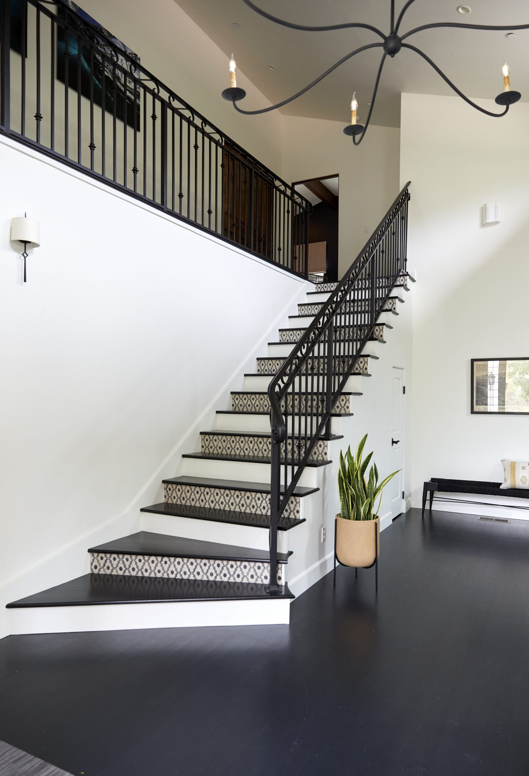 To visually represent a staircase built by Ashton & Hope Construction, a contractor in Santa Barbara, CA